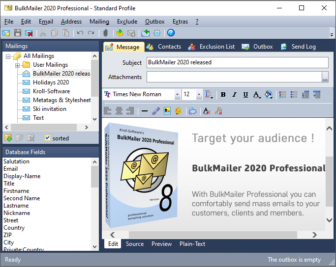 BulkMailer Professional Screen shot