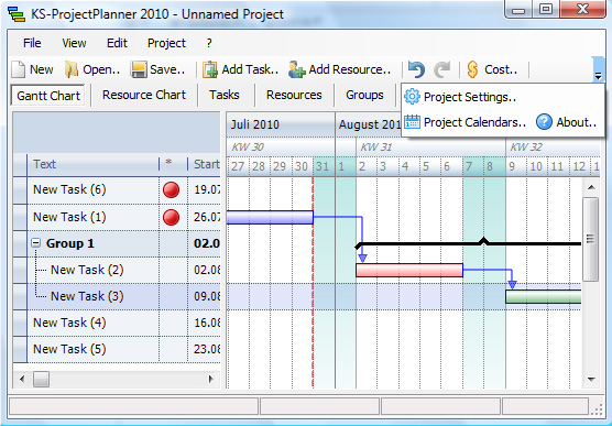 Click to view KS Project Planner for Windows screenshots