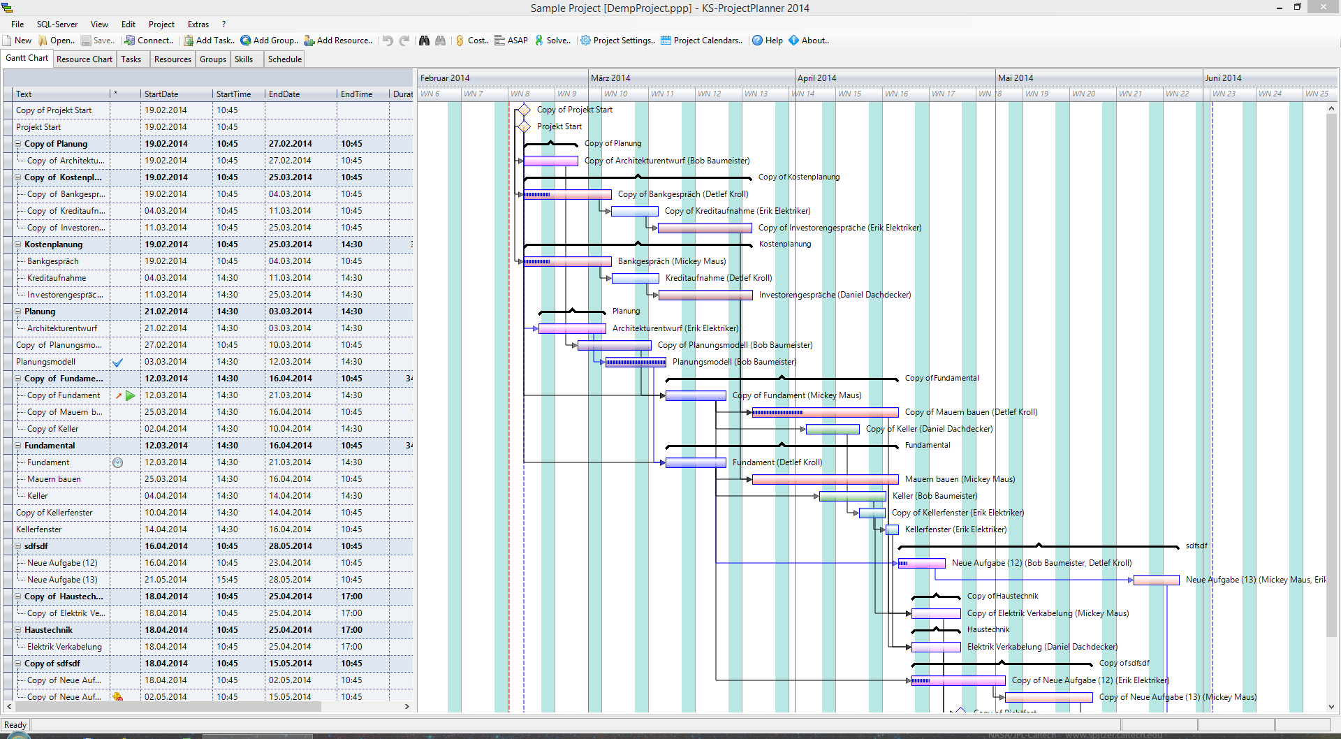 ProjectPlanner 2014 FreeWare Screenshot