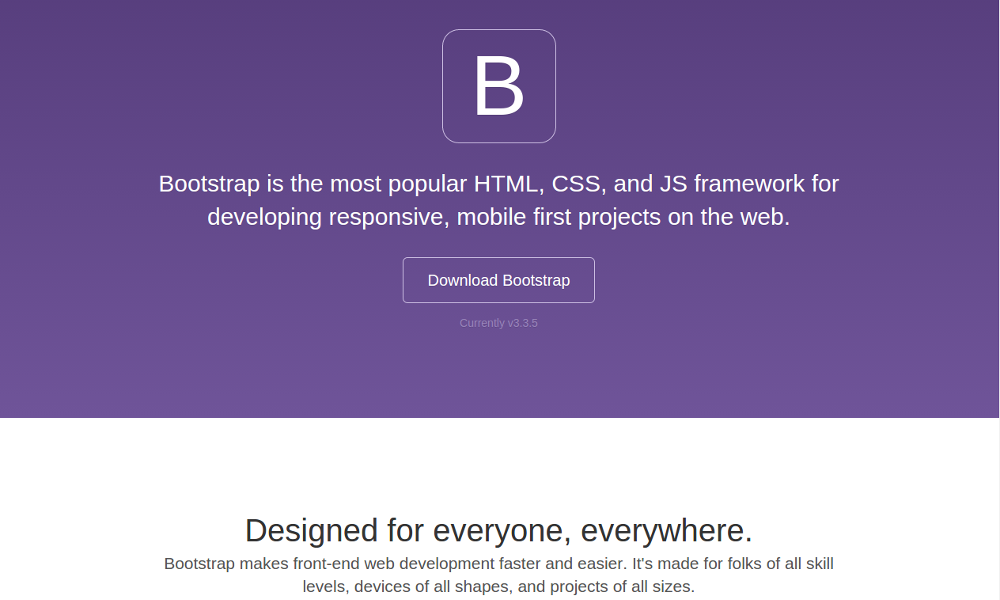 Default Bootstrap with default Theme