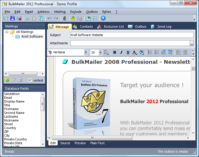bulkmailer 2012 professional kroll software